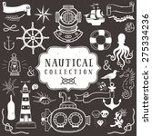 vintage hand drawn elements in... | Shutterstock .eps vector #275334236