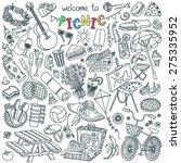 summer picnic doodle set.... | Shutterstock .eps vector #275335952