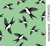 seamless pattern with flying... | Shutterstock .eps vector #275341922