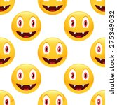 vector vampire emoticon... | Shutterstock .eps vector #275349032