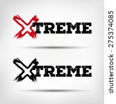 extreme. logo with the word... | Shutterstock .eps vector #275374085