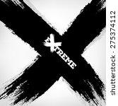 x background. letter x made... | Shutterstock .eps vector #275374112