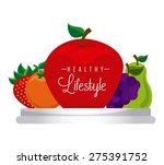 healthy lifestyle design ... | Shutterstock .eps vector #275391752
