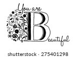 vintage style floral alphabet...