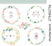 floral frame collection. set of ... | Shutterstock .eps vector #275402756