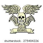 skull and crossbones  | Shutterstock .eps vector #275404226