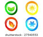 four seasons background   Shutterstock .eps vector #27540553