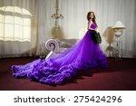 the girl in a luxury  long...   Shutterstock . vector #275424296