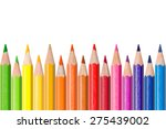 Row Of Colored Pencils ...
