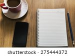 smartphone with notebook and... | Shutterstock . vector #275444372