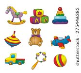 fun kids toy design | Shutterstock . vector #275446382