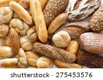 many mixed breads and rolls... | Shutterstock . vector #275453576