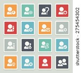 users white icons with buttons... | Shutterstock .eps vector #275454302