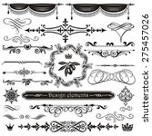 vector set of calligraphic... | Shutterstock .eps vector #275457026