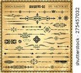 set of decorative design...   Shutterstock .eps vector #275457032