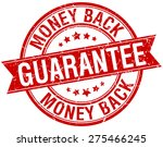 money back guarantee grunge... | Shutterstock .eps vector #275466245