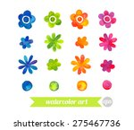 set collection floral elements. ... | Shutterstock .eps vector #275467736