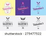 happy valentine's day vector... | Shutterstock .eps vector #275477522