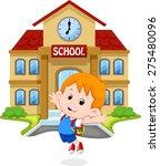little boy  jumping for joy on... | Shutterstock . vector #275480096