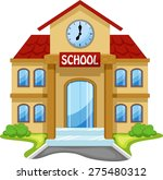 school building cartoon | Shutterstock .eps vector #275480312