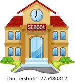 school building cartoon | Shutterstock .eps vector #275480312