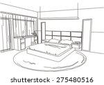 architectural sketch interior... | Shutterstock .eps vector #275480516