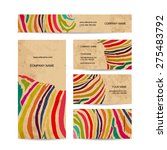 set of business cards  colorful ... | Shutterstock .eps vector #275483792
