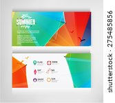 summer banners business of... | Shutterstock .eps vector #275485856