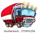 cartoon firetruck   caricatures ... | Shutterstock . vector #275491256