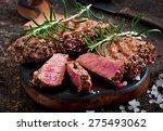 Juicy Steak Medium Rare Beef...