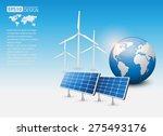 green energy concept with solar ... | Shutterstock .eps vector #275493176