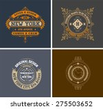 retro cards. business sign ... | Shutterstock .eps vector #275503652