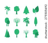 set of trees | Shutterstock .eps vector #275505692