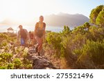group of friends walking along... | Shutterstock . vector #275521496