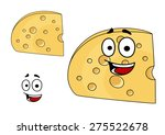 two pieces of cheese with holes ... | Shutterstock . vector #275522678