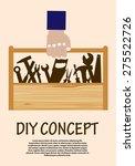 diy concept with range of hand... | Shutterstock . vector #275522726
