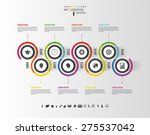 abstract timeline infographic... | Shutterstock .eps vector #275537042