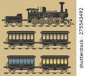 locomotive train  vector... | Shutterstock .eps vector #275543492
