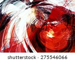 Abstract Red And White Motion...