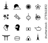 japanese theme icon set vector... | Shutterstock .eps vector #275561852