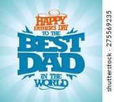 vintage typographical happy... | Shutterstock .eps vector #275569235