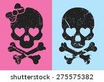 girl and boy skull