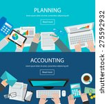 concepts for business planning... | Shutterstock .eps vector #275592932