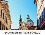 st.nicholas church in the... | Shutterstock . vector #275599622