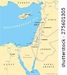 eastern mediterranean political ... | Shutterstock .eps vector #275601305