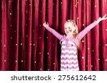 pretty little blond girl in... | Shutterstock . vector #275612642