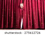 laughing attractive young blond ... | Shutterstock . vector #275612726