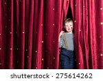 smiling young boy impatient for ... | Shutterstock . vector #275614262