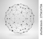 wireframe polygonal element. 3d ... | Shutterstock .eps vector #275614736