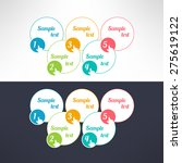 vector business process steps... | Shutterstock .eps vector #275619122